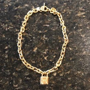 Slightly loved Michael Kors link locket necklace